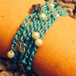 Miss the Caribbean so I made me a bracelet inspired by it. Min inre omställningsresa.