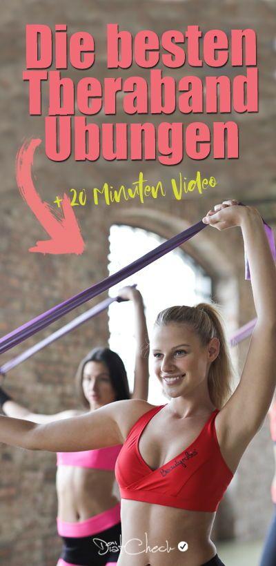 Theraband Übungen – Training für Arme, Beine, Po & Rücken!