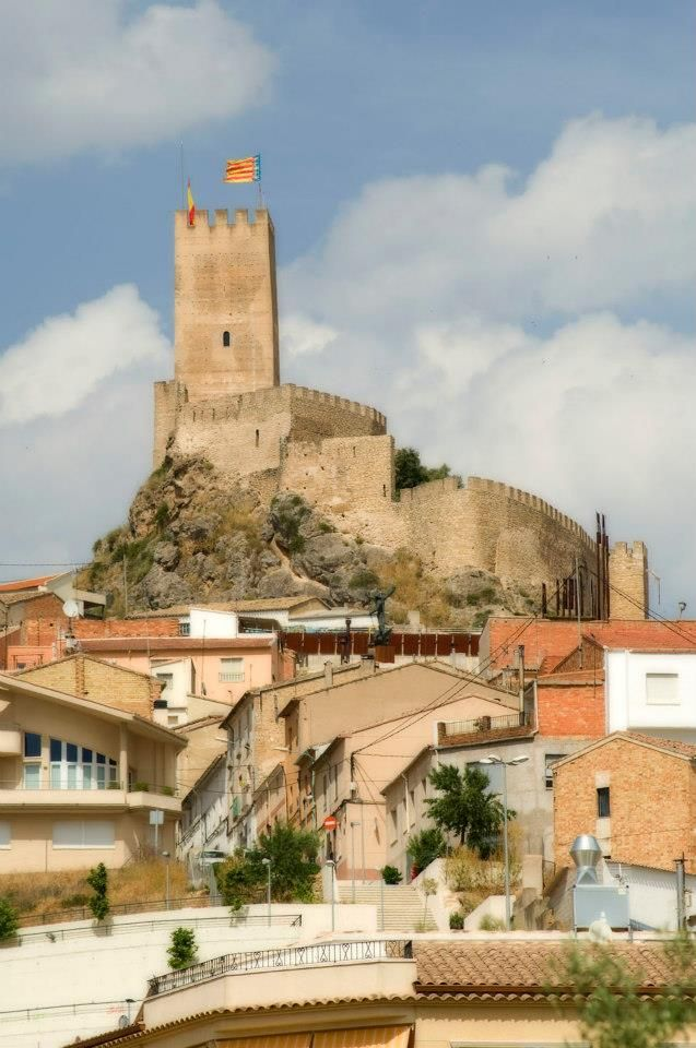 CASTLES OF SPAIN - Castle of Banyeres de Mariola, Alicante. Islamic origin, rises to 830 meters and it consists of a polygonal floor plan, with a Tribute Tower from the Almohad period (XII centuries). The castle has been witness to several wars. So, we have to make special mention of the War of Succession in 1705 when it hosted the population, protecting them from fires and plunders, who showed loyalty to Philip V, and subsequently obtained the title of noble, faithful, loyal and true villa.