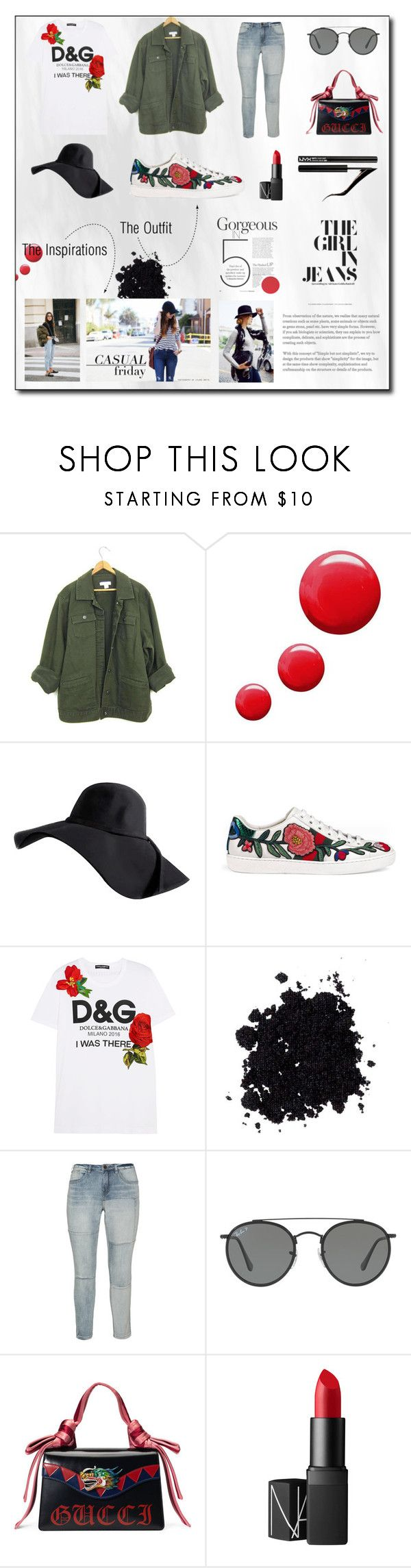"""City Strolls"" by jaimewareham ❤ liked on Polyvore featuring Topshop, Gucci, Dolce&Gabbana, Zizzi, Ray-Ban, NARS Cosmetics, Forever 21 and StreetStyle"