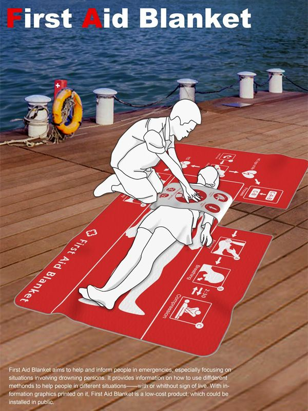 First Aid Blanket helps guide and inform people during emergency situations. #FirstAid #medical #YankoDesign