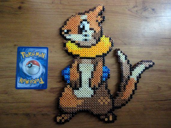 Buizel Pokemon Perler Bead Sprite by PokePerlers on Etsy, $15.00