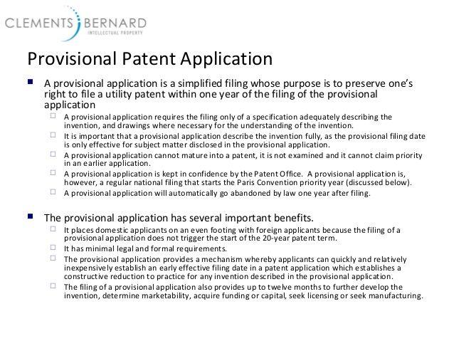 Best 25+ Provisional patent application ideas on Pinterest - pct resume