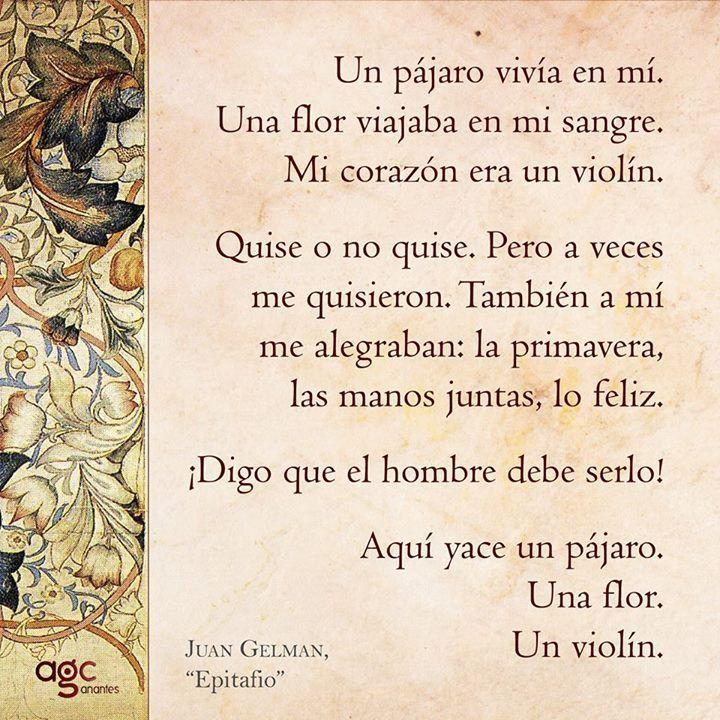 Juan Gelman - Epitafio