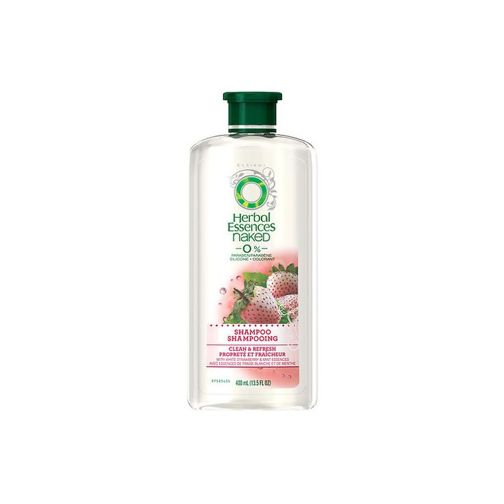 Herbal Essences Naked Clean and Refresh Shampoo with Strawberry and Mint Essences http://www.womenshealthmag.com/beauty/best-smelling-shampoos/slide/1