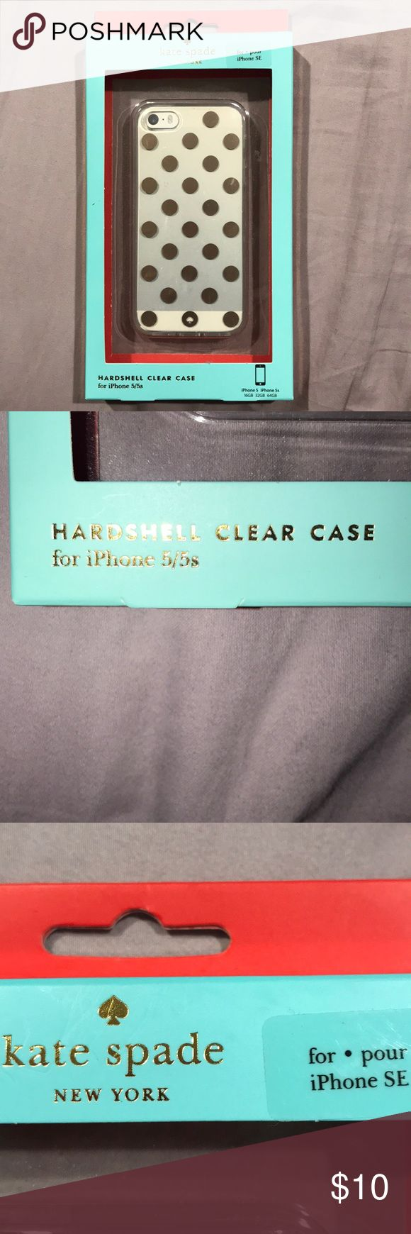 Kate Spade iphone 5s silver case brand new never opened box iphone 5S Kate Spade case. kate spade Accessories Phone Cases