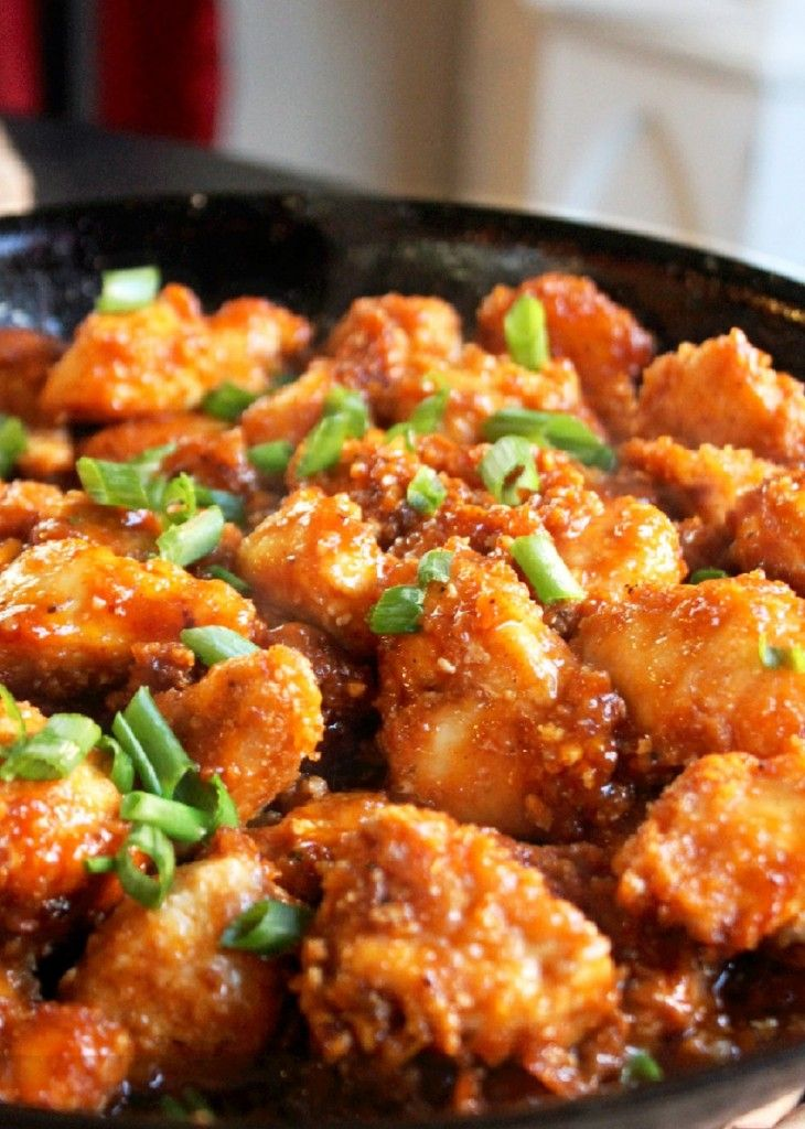 Honey Garlic Chicken!  Looks more delicious than take out!