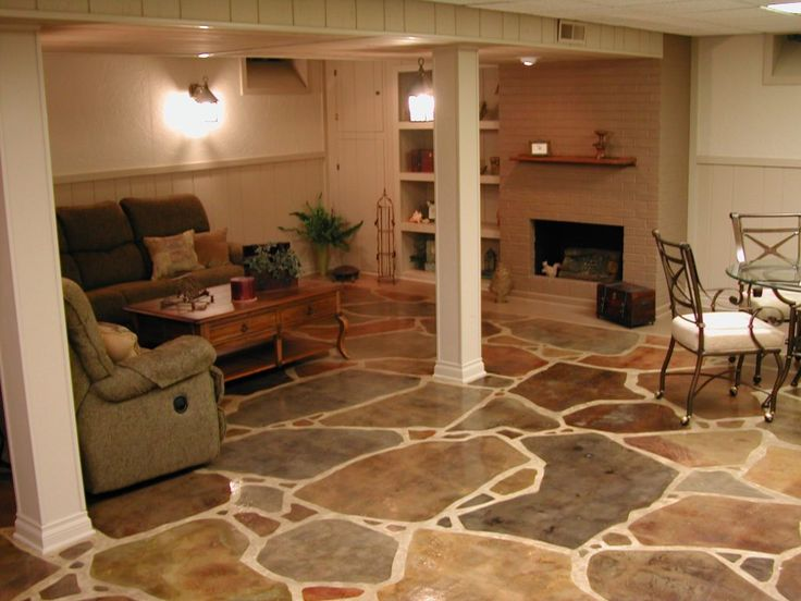 1000 ideas about concrete basement floors on pinterest Basement flooring ideas