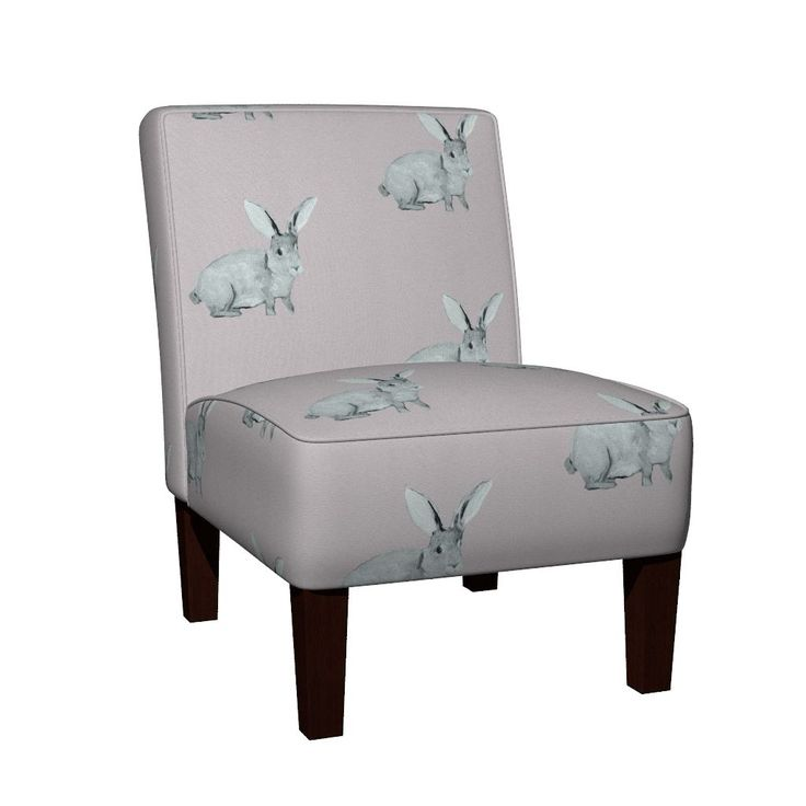 Maran Slipper Chair featuring Bunny Blush by traceyharveydesigns | Roostery Home Decor