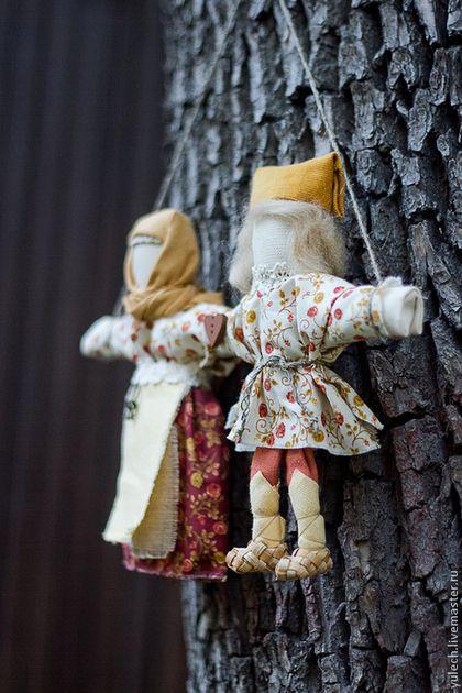 """Народные куклы ручной работы. Ярмарка Мастеров - ручная работа Народная русская куколка-неразлучники """"Теплая осень"""". Handmade."""