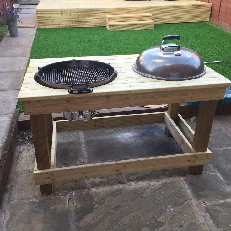 DIY BBQ Prep Table