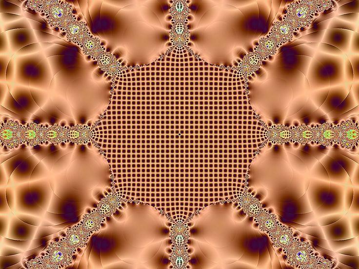 Fraktal - Kostenloses Hintergrundbild - Farbe: Braun