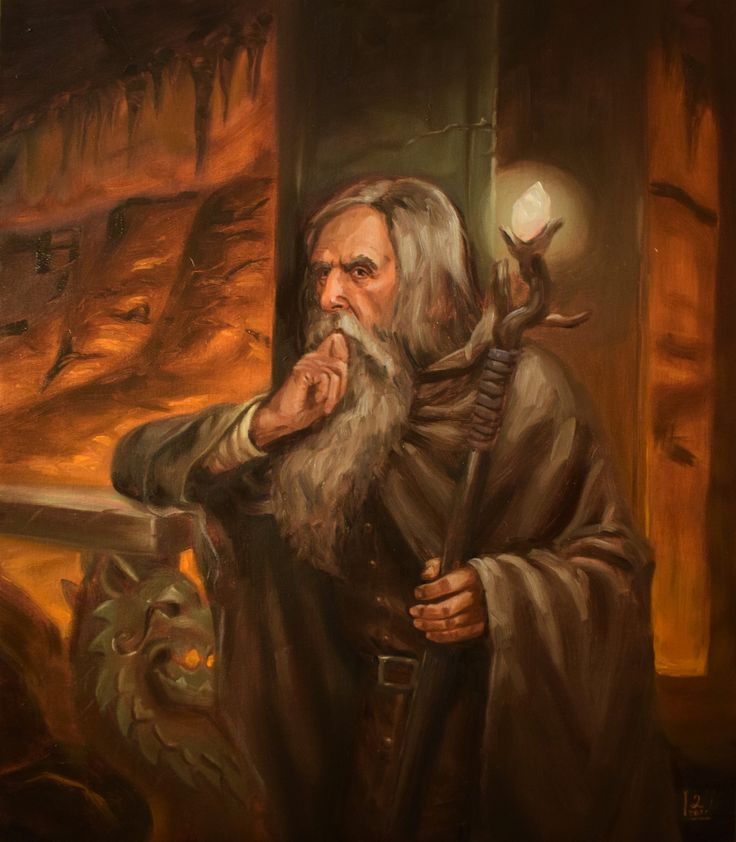 Гэндальф ArtStation - Lost in Khazad-dûm, Darko Stojanovic
