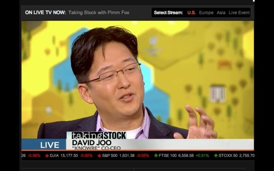 "KnowRe Co-CEO David Joo interview on Bloomberg TV ""Taking Stock"" with Pimm Fox. Watch the video clip here: http://bloom.bg/15yKVHc"