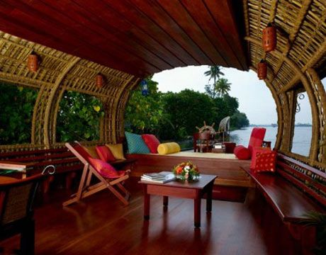 Houseboat. Kerala, India. (1993)