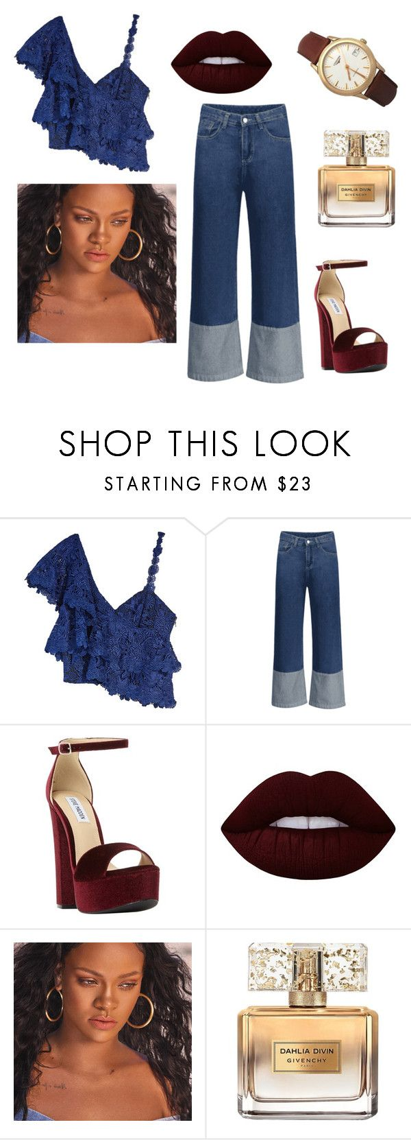 """""""Lovely"""" by lavidaeschulisimaosea on Polyvore featuring moda, Saba, Steve Madden, Lime Crime, Puma, Givenchy y Longines"""