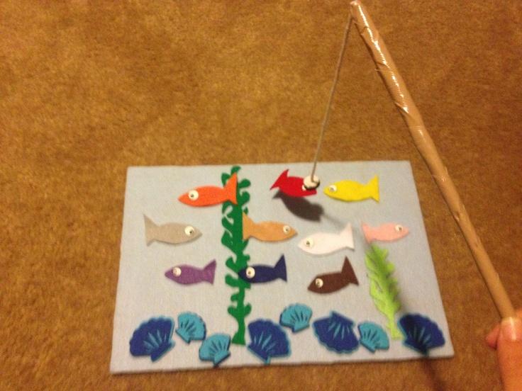 67 best kid 39 s games images on pinterest families feltro for Magnetic fish tape