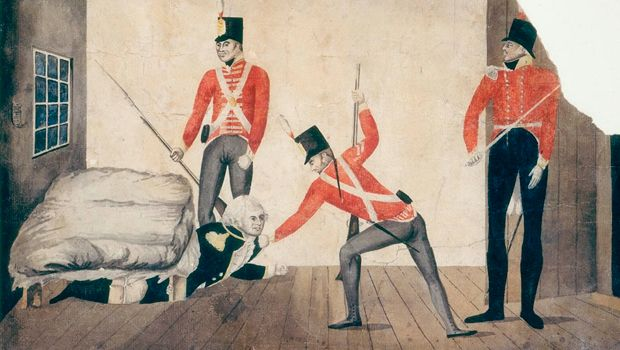 In 1808, NSW Governor William Bligh was ousted in Australia's first and only military coup.