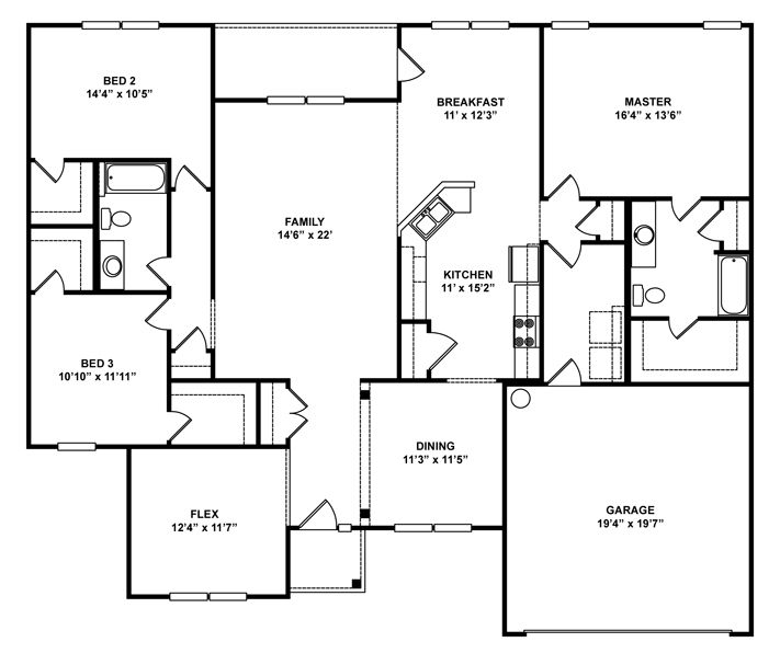 1000 images about one level house plans on pinterest for House plans under 2000 sq ft