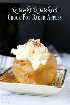 Crock Pot Weight Watchers Baked Apples Recipe. You can enjoy a fall treat that is only 3 WW SmartPoints per serving. via @midlifehealthyliving