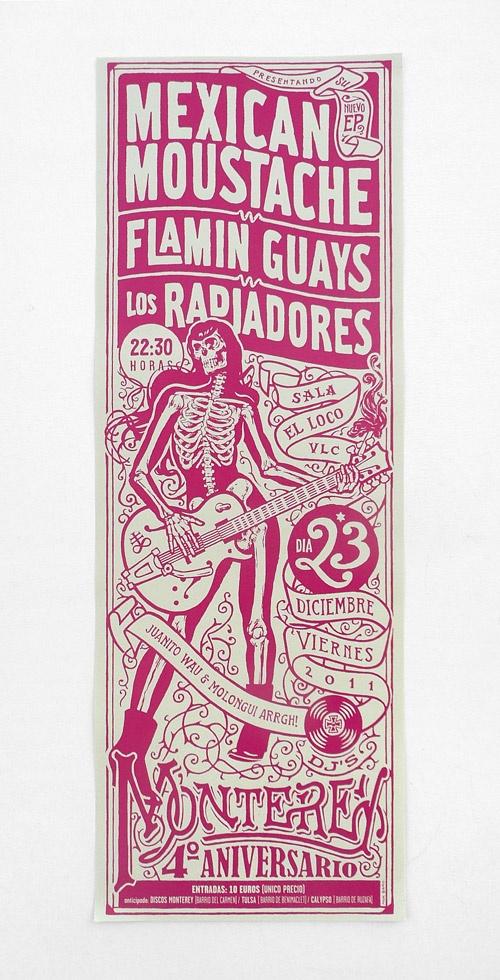 Mexican Moustache - Monterey: 4º Aniversario. > Mik Baro.