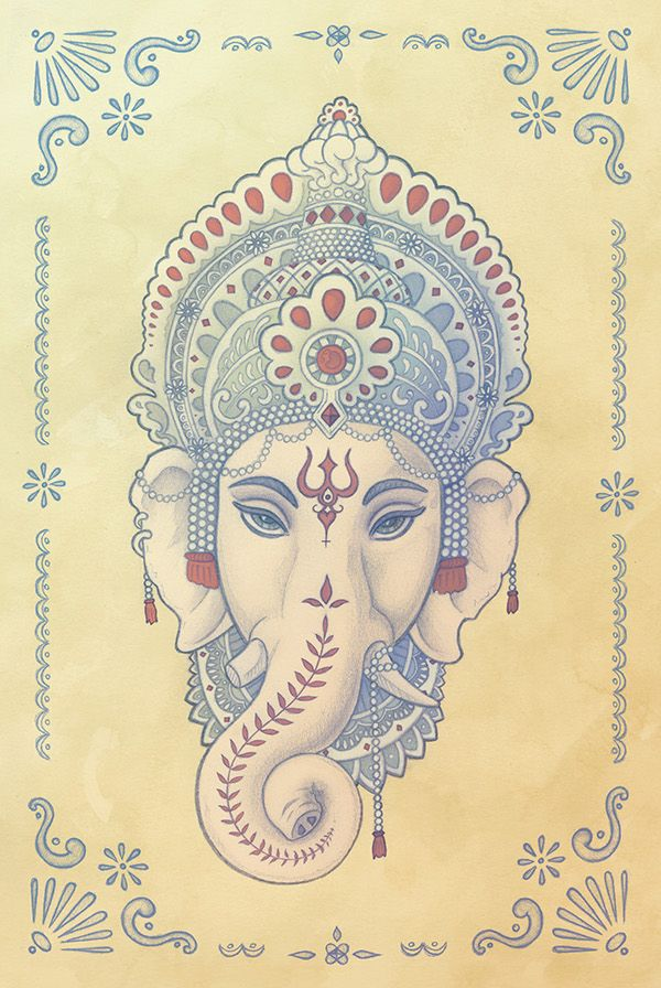 Shri Ganesh!  We bow to their Lord, Sri Ganesha. By receiving His grace, we receive the grace of all. He removes any potential obstacles and enables our endeavors to succeed.