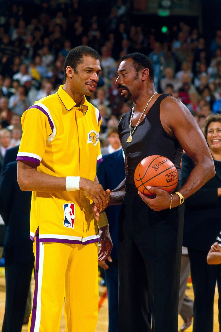 Kareem Abdul-Jabbar and Wilt Chamberlain. The Two most dominant big men in NBA History.