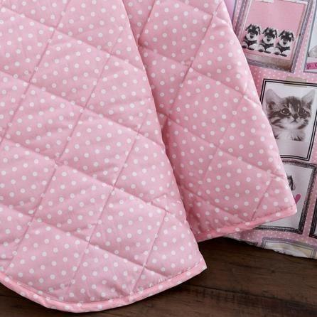 Dunelm Fluffy Friends Pink Bedspread