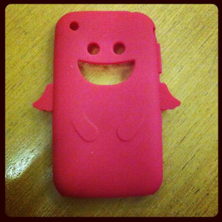 Capa de Silicone Vermelha de Anjo para iPhone 3/3GS