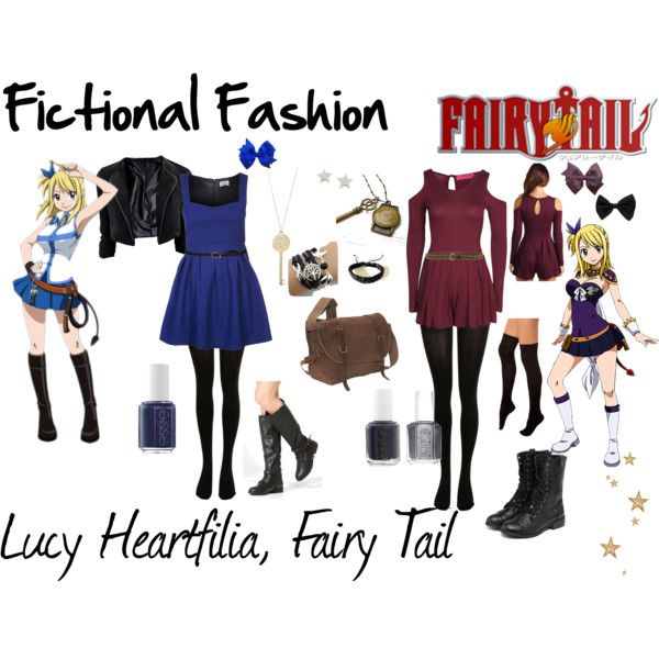 """""""Lucy Heartfilia, Fairy Tail"""" by fictional-fashion on Polyvore"""