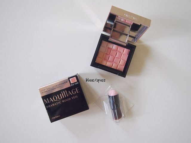 BLANC / SPACE: REVIEW: Maquillage Dramatic Mood Veil Blush #RD100