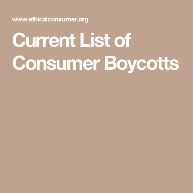 consumer boycott according Consumer boycotts as defined by garrett (1987) is the concerted but non-mandatory refusal by a group of actors (the agents) to conduct marketing transactions with one or more other actors (the.