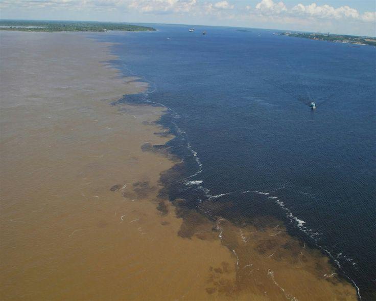 Encontro das Águas (Entre o Rio Negro e Rio Solimões). Cidade/City: Manaus Estado/State: Amazonas Brasil