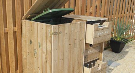Afvalcontainer uit het zicht (grote ombouw)
