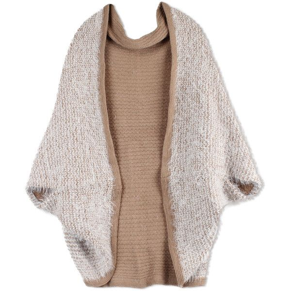 Women's Imperial Joannie Cozy Warm Scarf Shrug (380 UAH) ❤ liked on Polyvore featuring intimates, hosiery, socks, beige, loose socks, beige shrug, beige socks, shrug cardigan and cardigan shrug