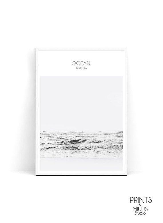 Seascape Ocean Print Waves Beach Photography by PrintsMiuusStudio