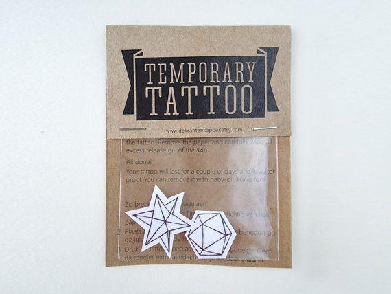 Geometrische tijdelijke tatoeage