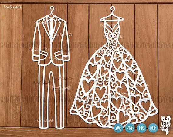Wedding Svg, Bridal Dress Svg, Dress Svg, Mr and Mrs Svg
