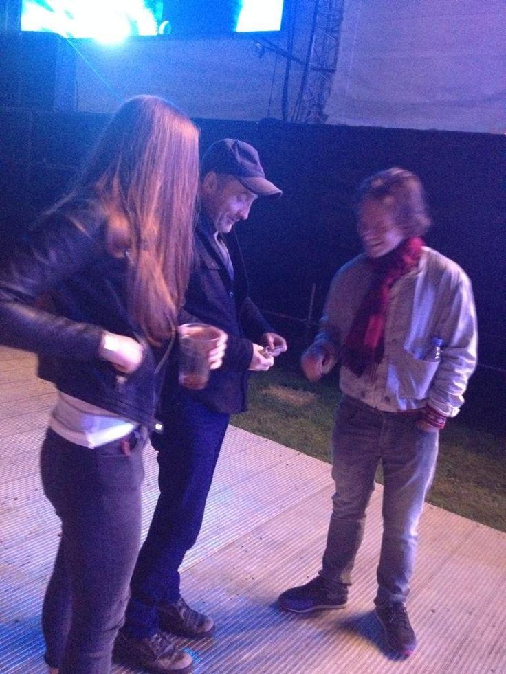 Sophie Turner with Game of Thrones co-stars Alfie Allen (Theon Greyjoy) and Stephen Dillane (Stannis Baratheon).
