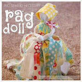 Rag Doll (No sewing required!)-Made these with my girls, and they turned out really cute