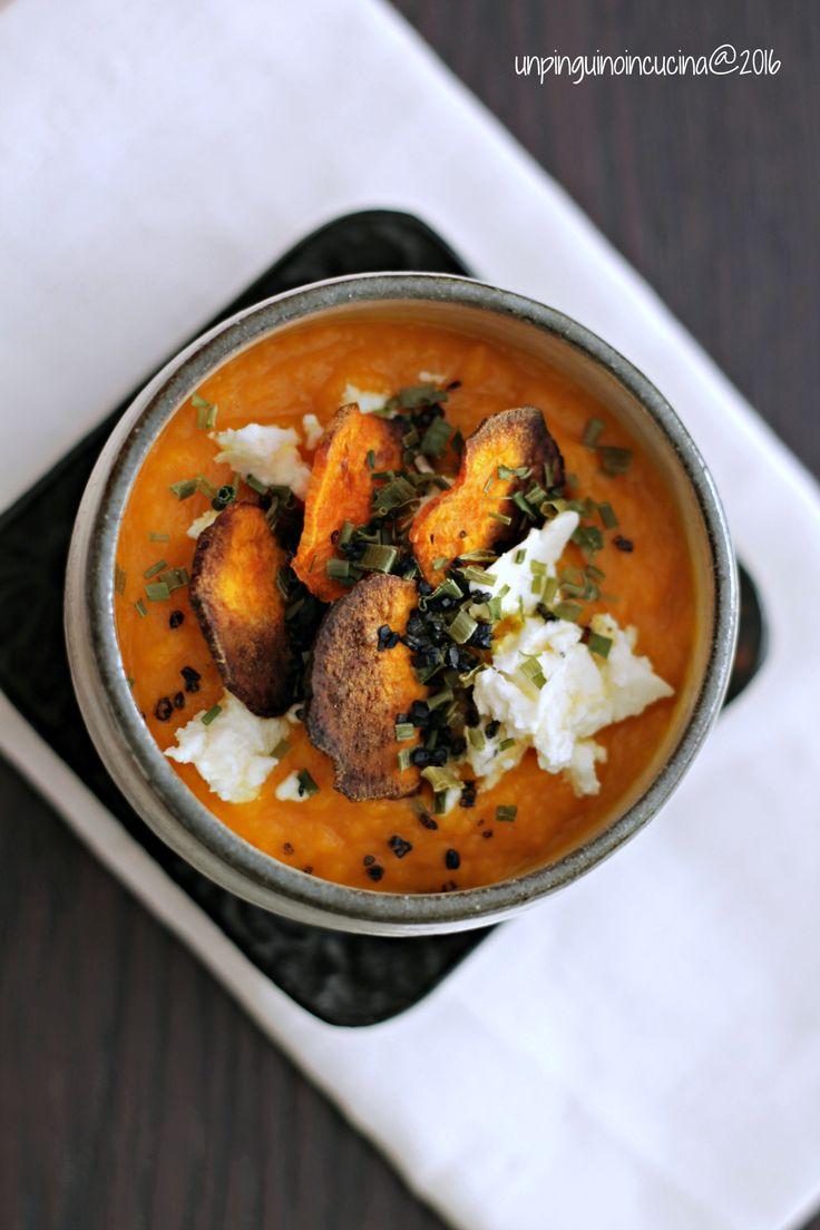Oven-Roasted Carrot and Sweet Potato Soup - Vellutata Di Carote Arrosto E Patate Dolci | Un Pinguino In Cucina