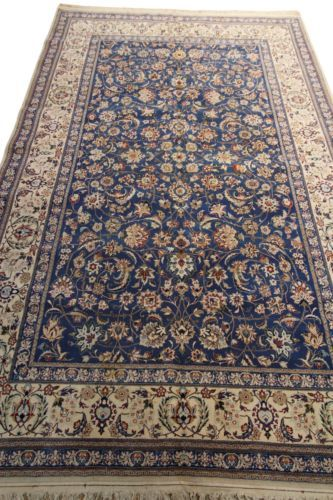 EXCEPTIONAL-AUTHENTIC-NAIN-RUG-TOUDESHK-PERSIAN-WOOL-SILK-HIGH-QUALITY-5 1/2 x 8  $2950
