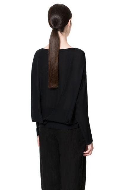 Zara Studio Silk Loose Blouse 43