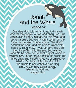 JONAH AND THE WHALE STORY HOUR - TeachersPayTeachers.com