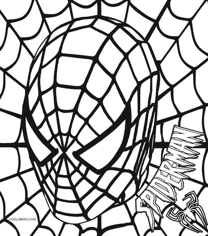 printable spiderman coloring pages for kids cool2bkids - Avengers Logo Coloring Pages
