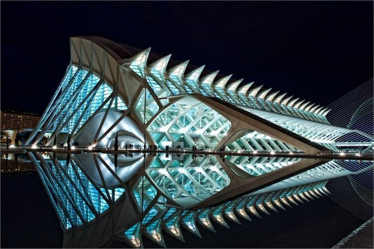 """Science Museum In VALENCIA, SPAIN BY SANTIAGO CALATRAVA. Architectural building designs that are bold and understated, old and new, simple and complex, unusual and weird but all beautiful building designs. Now scroll through Pinterest pins of """"Building Photos For Inspiration"""" which have impressed Two Bananas Art and me the most. SEE MORE ARCHITECTURE AS ART NOW.... www.http://richard-neuman-artist.com/collections/90009"""
