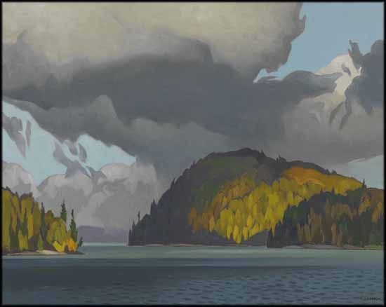 Alfred Joseph (A.J.) Casson - Gibraltar Point Joe Lake 24 x 30 oil on canvas
