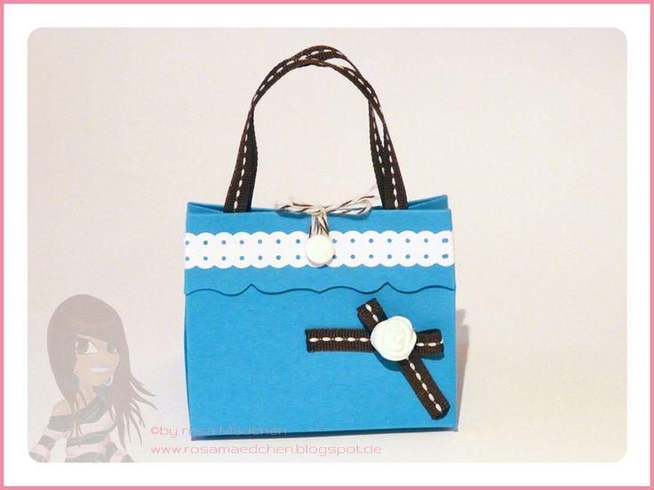 Stampin' Up! - Geschenktüte - Handtasche - Gepunktetes Wellenband - Simply Pressed Clay - www.rosamaedchen.blogspot.de