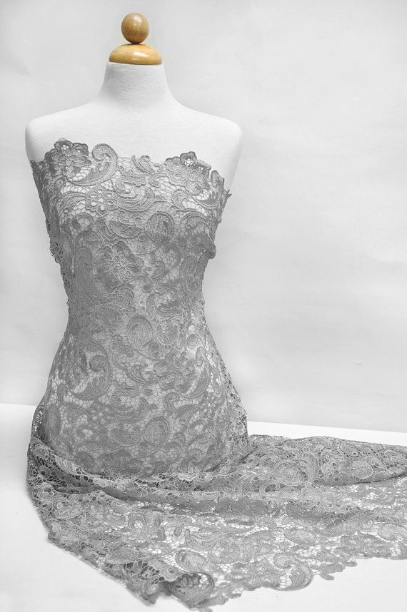 Bridesmaid dress blue lace fabric