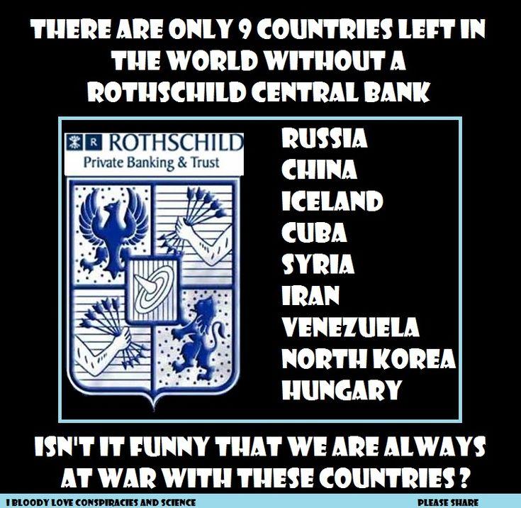 Tan sólo quedan 9 países en el mundo sin un Banco Central propiedad de los Rothschild | Información por la Verdad